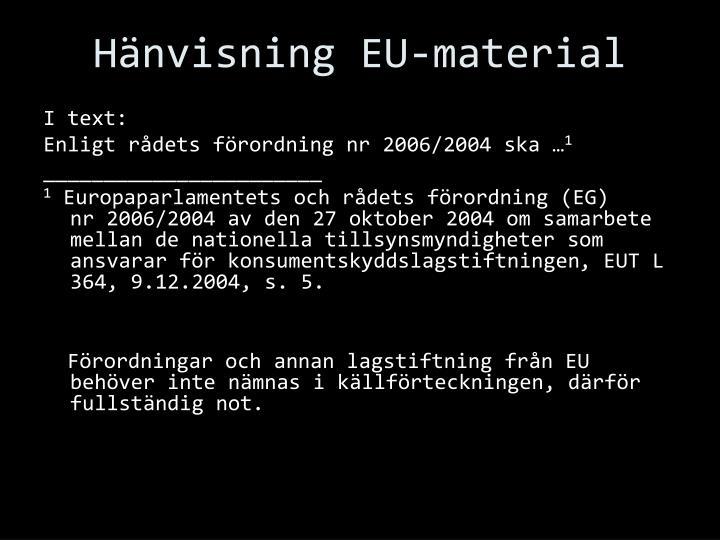 Hänvisning EU-material