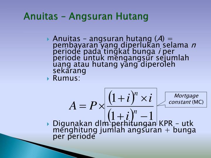 Anuitas – Angsuran Hutang