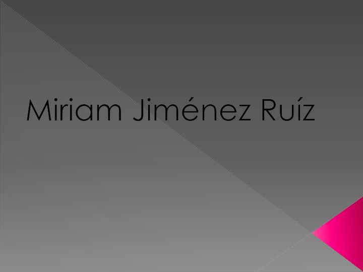 Miriam Jiménez Ruíz