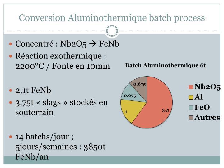 Conversion Aluminothermique batch