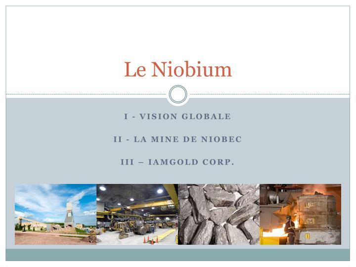 Le Niobium
