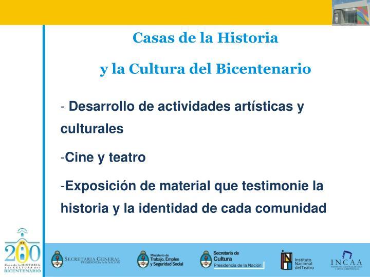 Casas de la Historia
