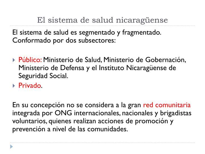El sistema de salud nicaragüense