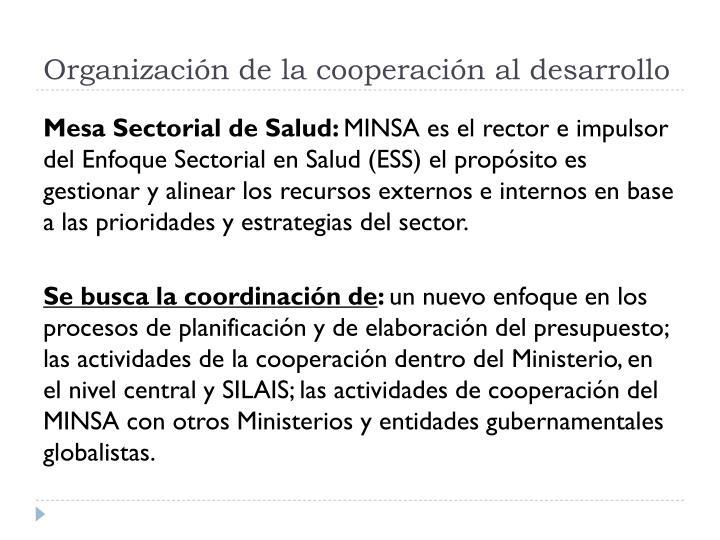 Organización de la cooperación al desarrollo