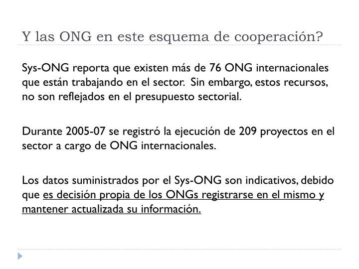 Y las ONG en este esquema de cooperación?