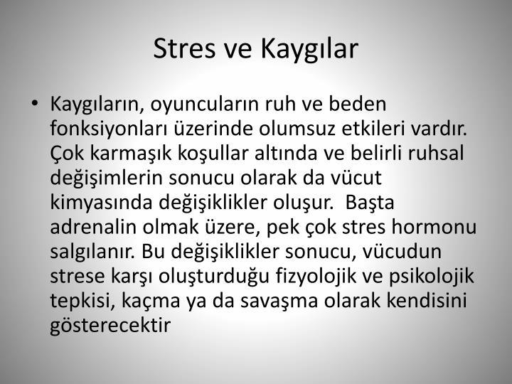 Stres ve Kaygılar