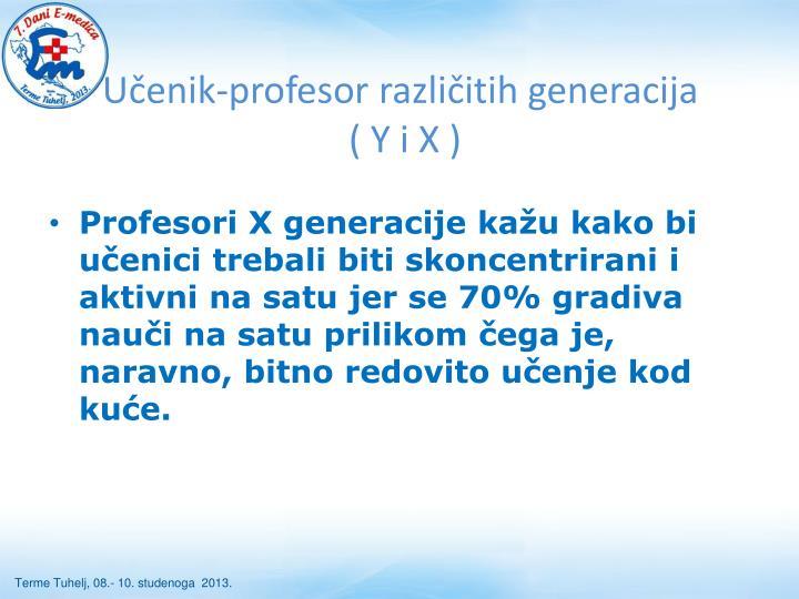 Učenik-profesor različitih generacija