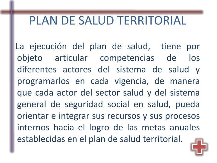 PLAN DE SALUD TERRITORIAL