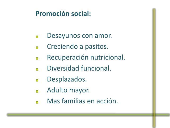 Promoción social: