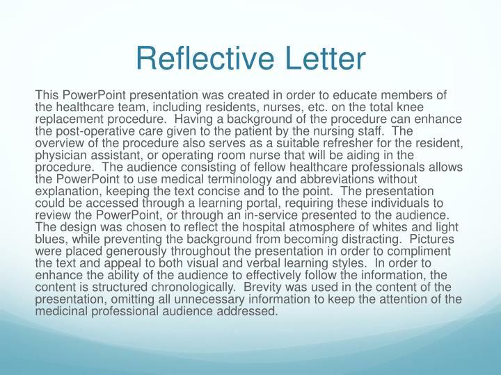 Reflective Letter