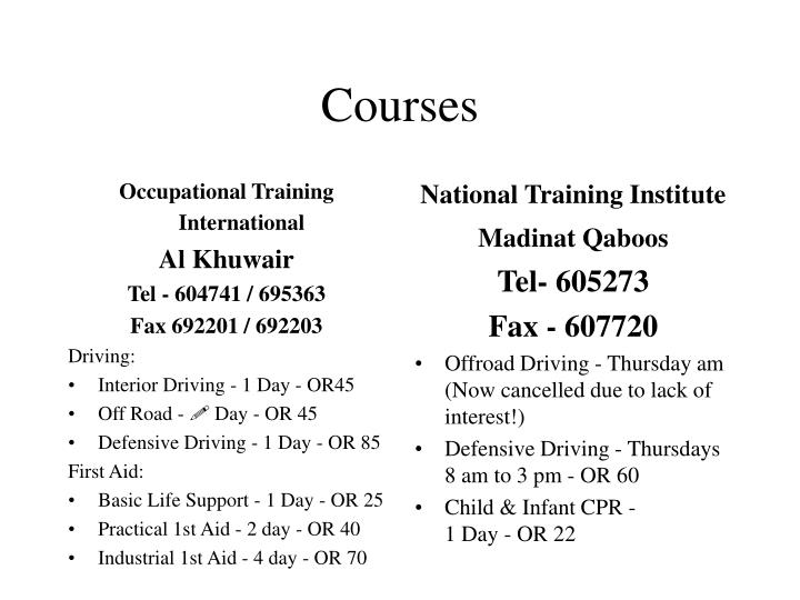 Occupational Training International