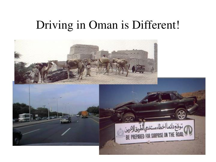 Driving in oman is different