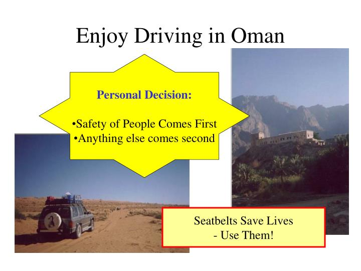 Enjoy Driving in Oman