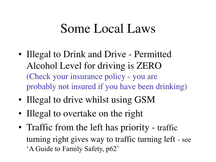 Some Local Laws