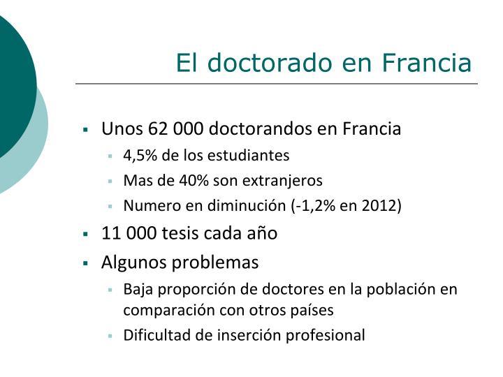 El doctorado en Francia