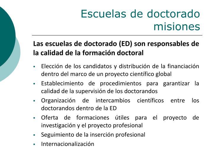 Escuelas de doctorado misiones
