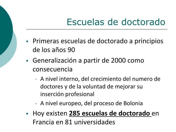 Escuelas de doctorado