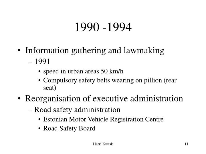 1990 -1994