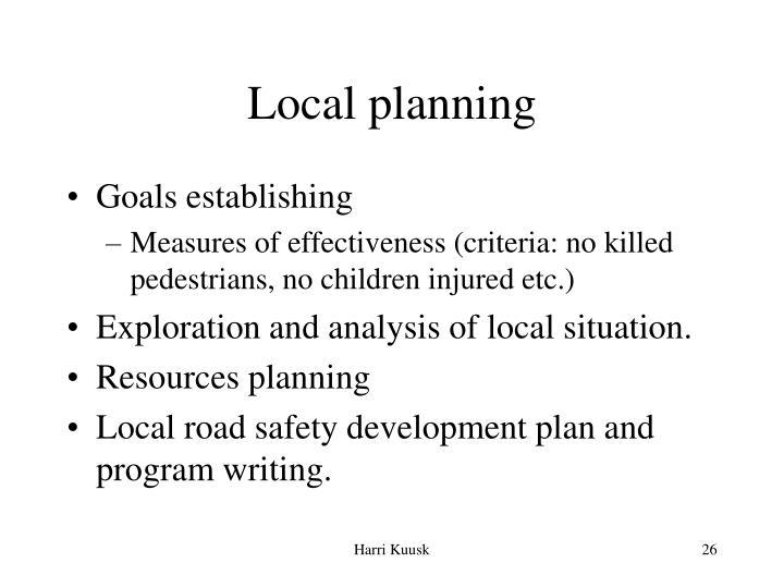 Local planning