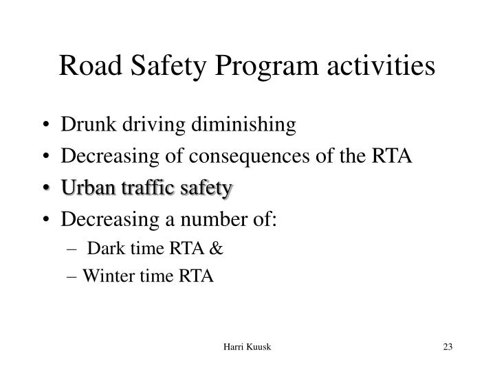 Road Safety Program activities