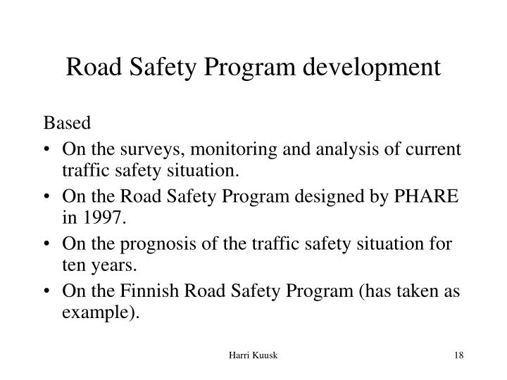 Road Safety Program development
