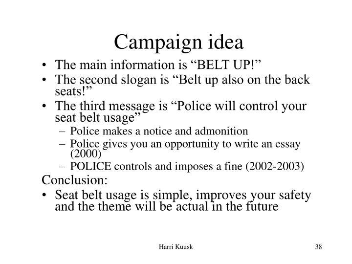 Campaign idea
