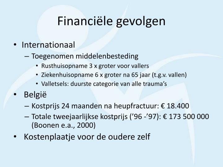 Financiële gevolgen