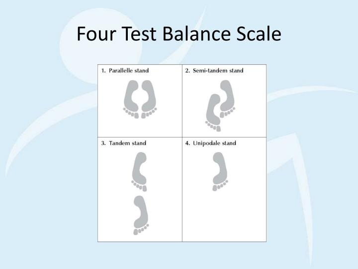 Four Test Balance Scale