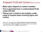 empower plsa with context mei zhai 06
