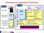generate an integrative summary