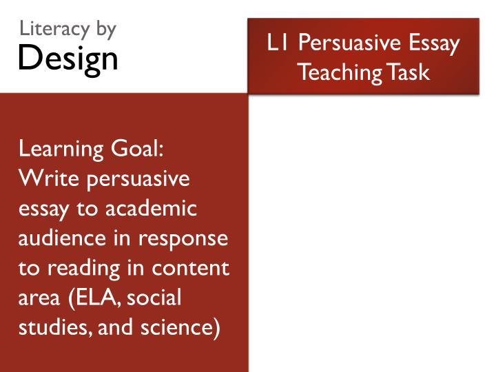 L1 Persuasive Essay