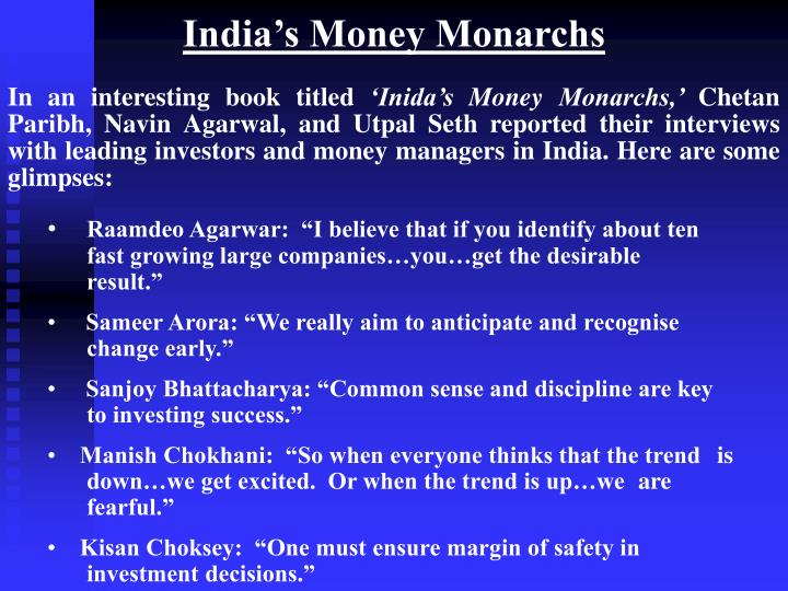 India's Money Monarchs