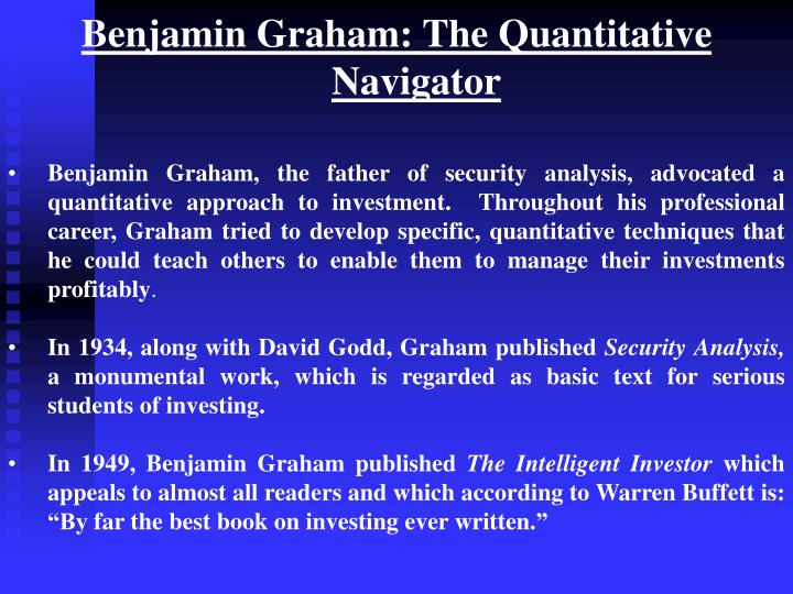 Benjamin Graham: The Quantitative Navigator