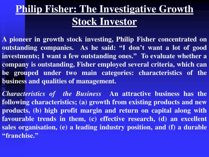 Philip Fisher: The Investigative Growth