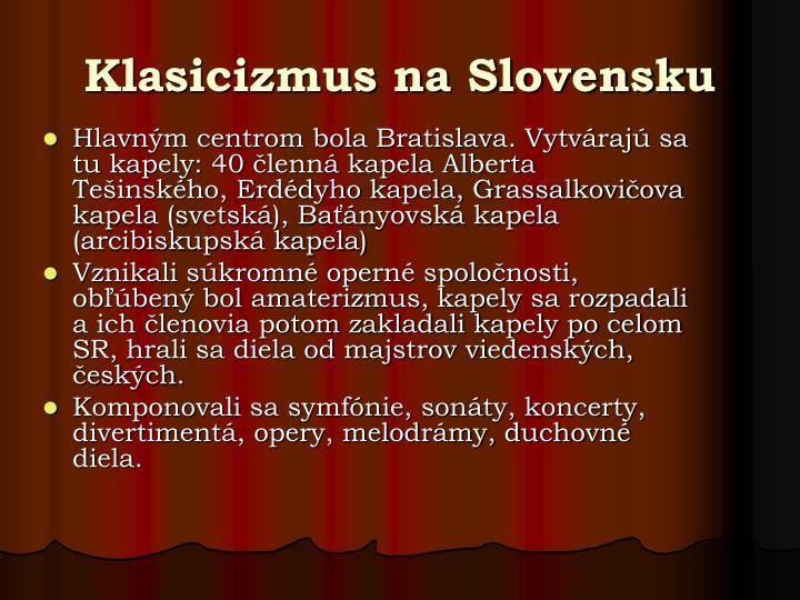 Klasicizmus na Slovensku