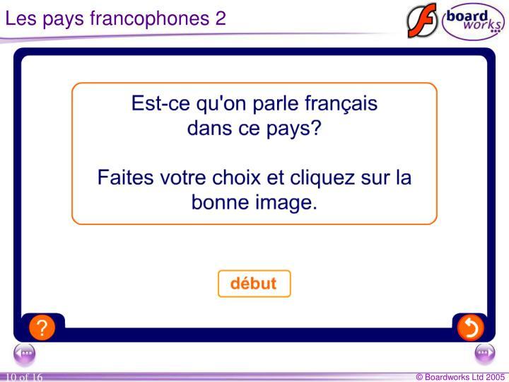 Les pays francophones 2