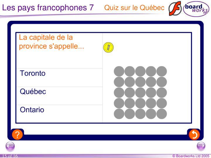 Les pays francophones 7