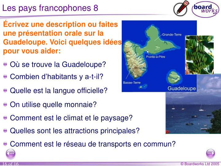 Les pays francophones 8
