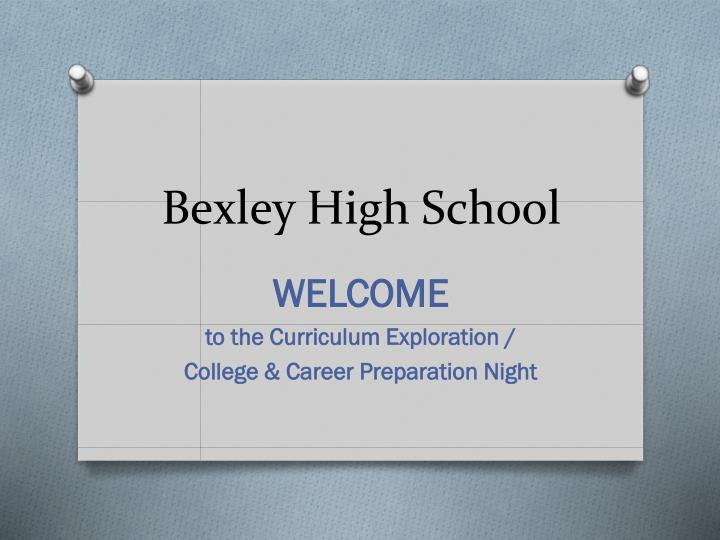 Bexley high school