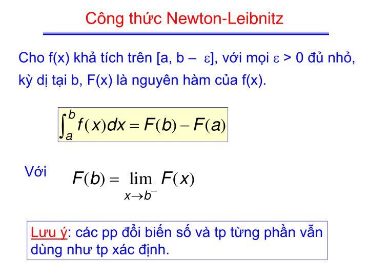 Công thức Newton-Leibnitz
