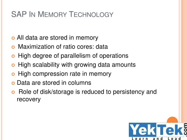 SAP In Memory Technology