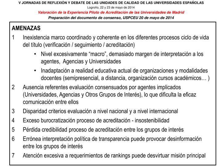 V JORNADAS DE REFLEXIÓN Y DEBATE DE LAS UNIDADES DE CALIDAD DE LAS UNIVERSIDADES ESPAÑOLAS
