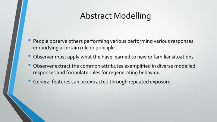 Abstract Modelling