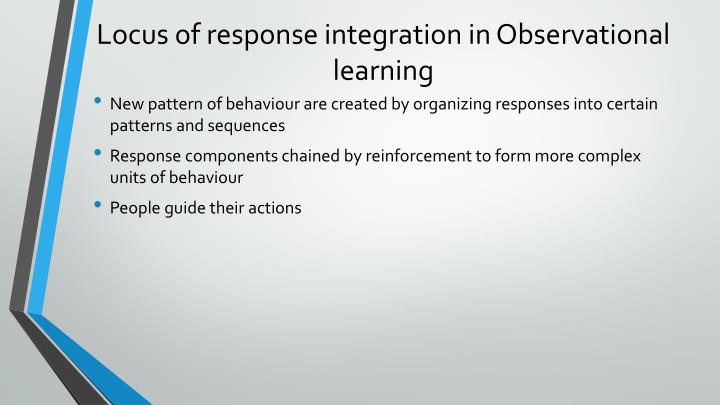Locus of response integration in Observational learning