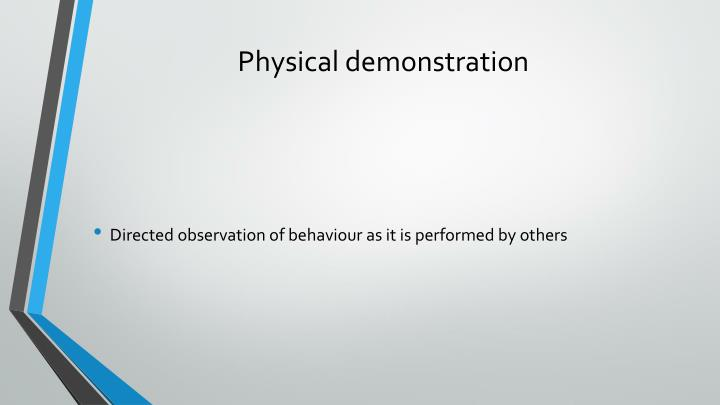 Physical demonstration