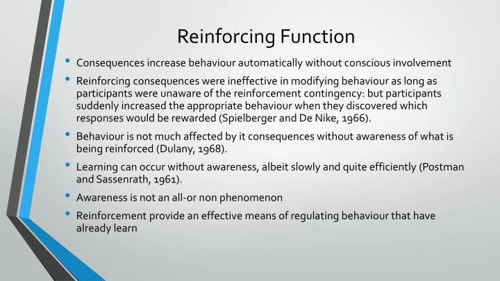 Reinforcing Function