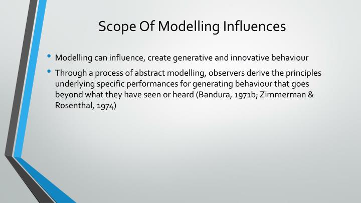Scope Of Modelling Influences