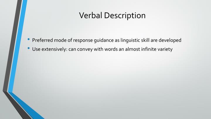Verbal Description