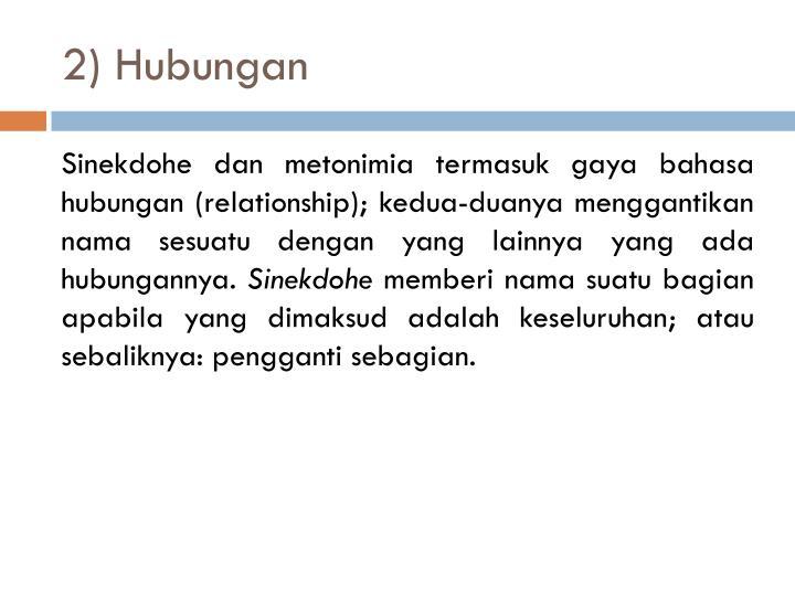 2) Hubungan