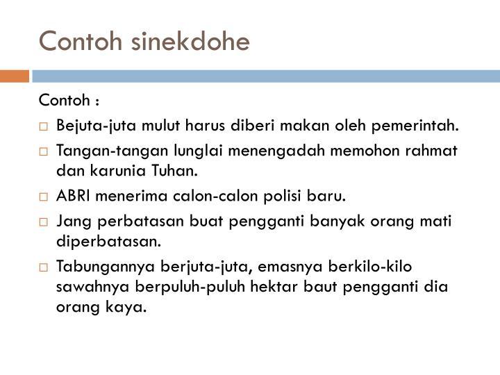 Contoh sinekdohe